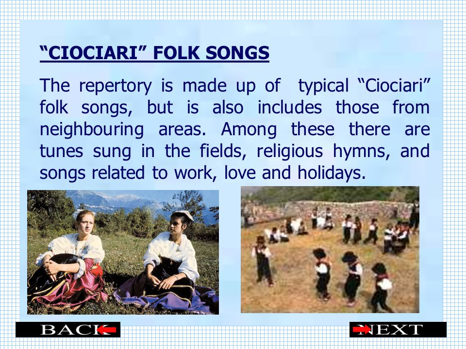 CIOCIARI FOLK SONGS
