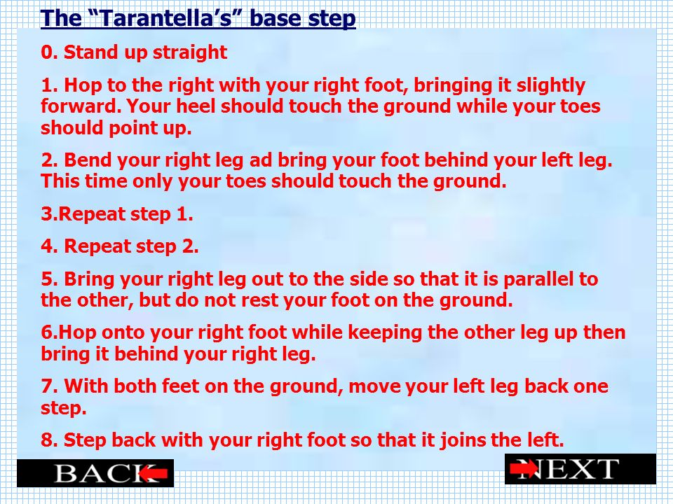 The Tarantella's base step