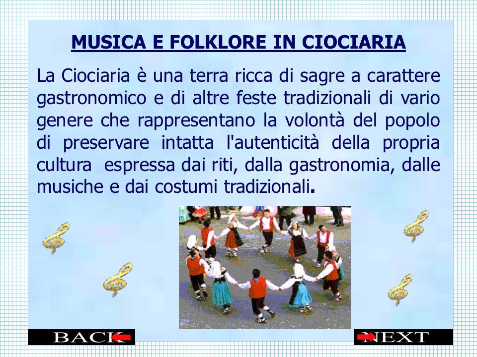 MUSICA E FOLKLORE IN CIOCIARIA