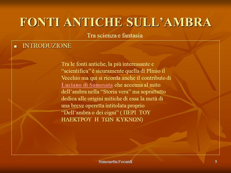 FONTI ANTICHE SULL'AMBRA