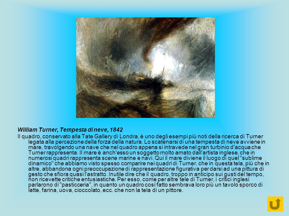 William Turner, Tempesta di neve, 1842