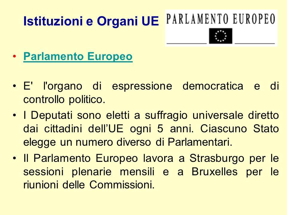Istituzioni e Organi UE