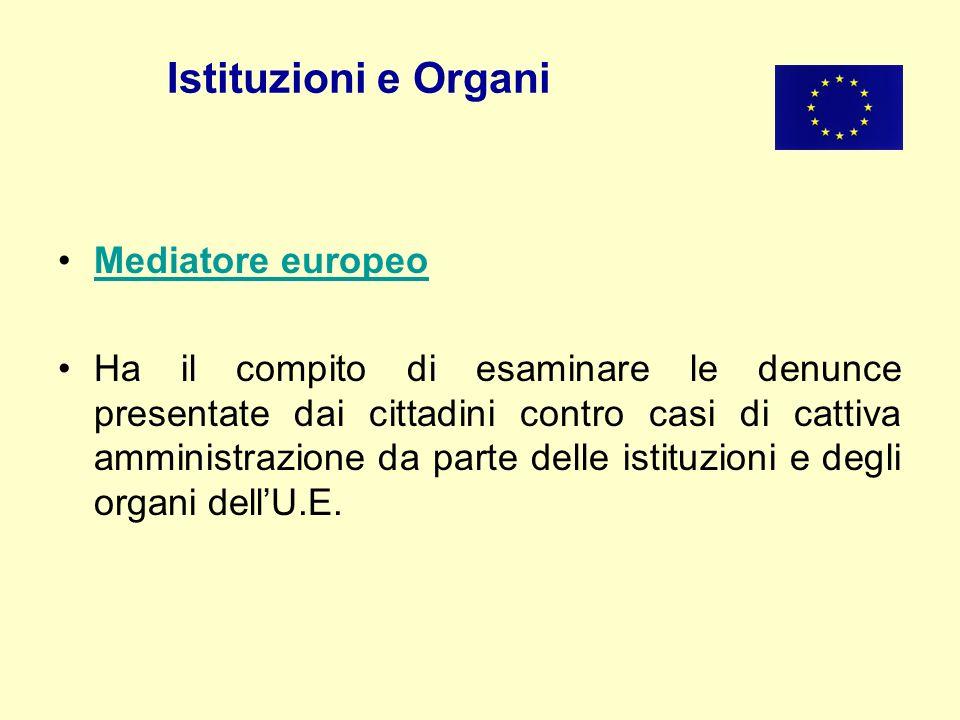 Istituzioni e Organi Mediatore europeo