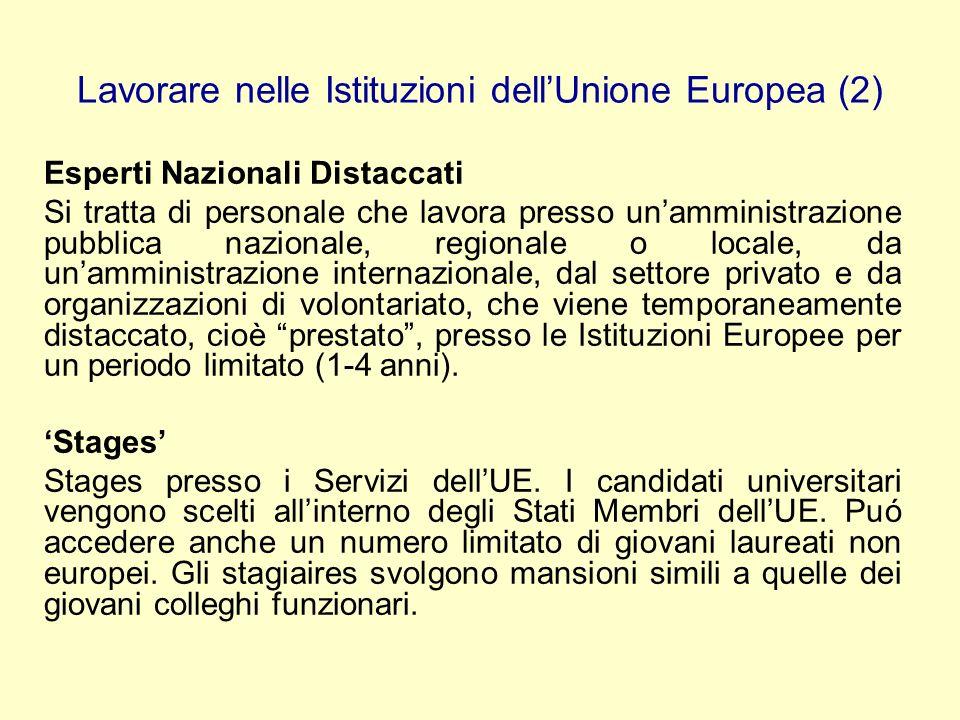 Lavorare nelle Istituzioni dell'Unione Europea (2)