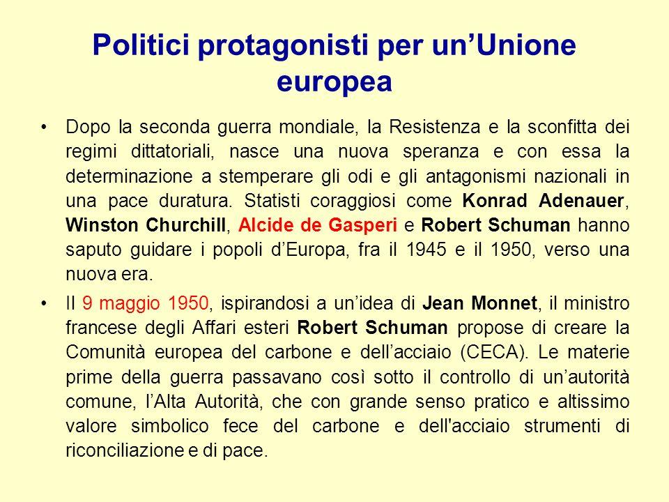 Politici protagonisti per un'Unione europea