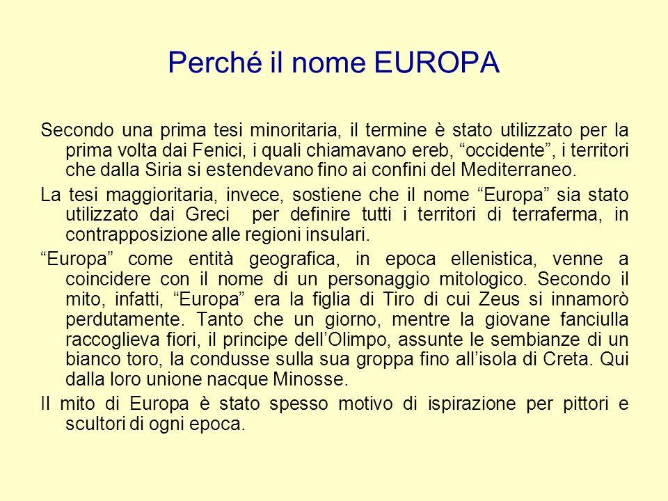 Perché il nome EUROPA