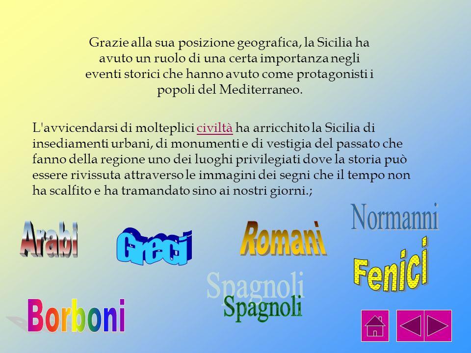 Normanni Arabi Romani Greci Fenici Spagnoli Borboni
