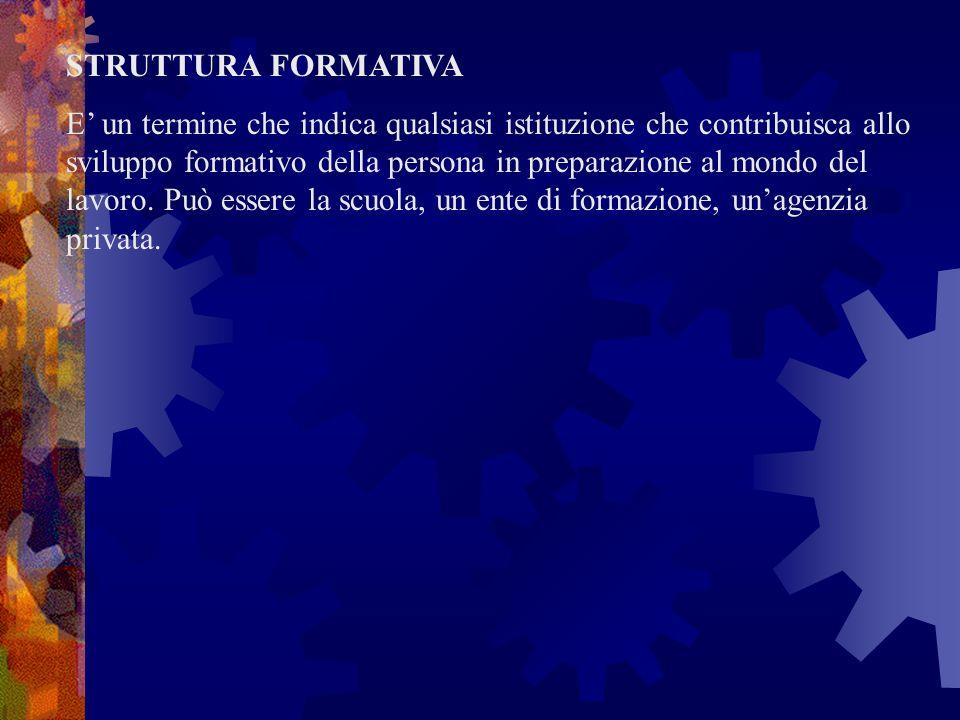 STRUTTURA FORMATIVA
