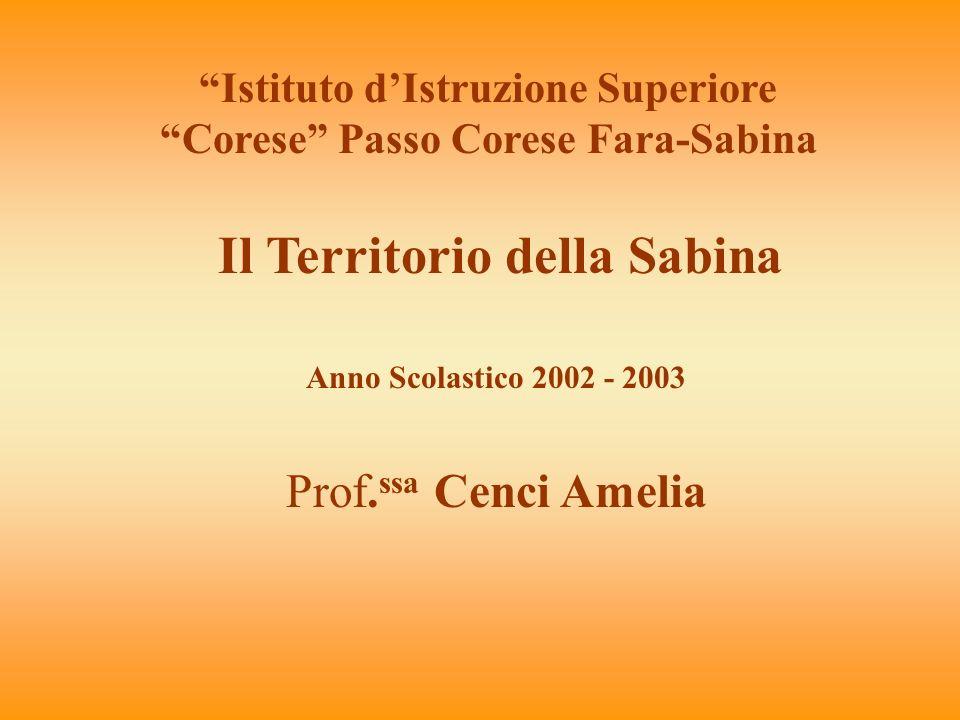 Il Territorio della Sabina