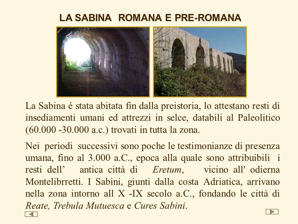 LA SABINA ROMANA E PRE-ROMANA