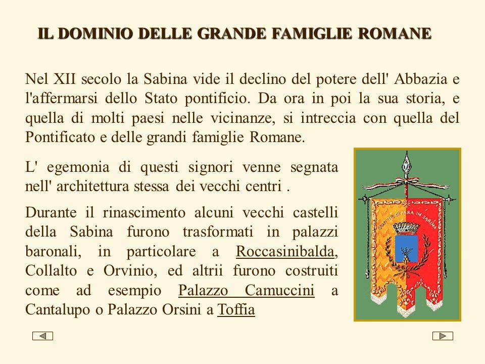 IL DOMINIO DELLE GRANDE FAMIGLIE ROMANE