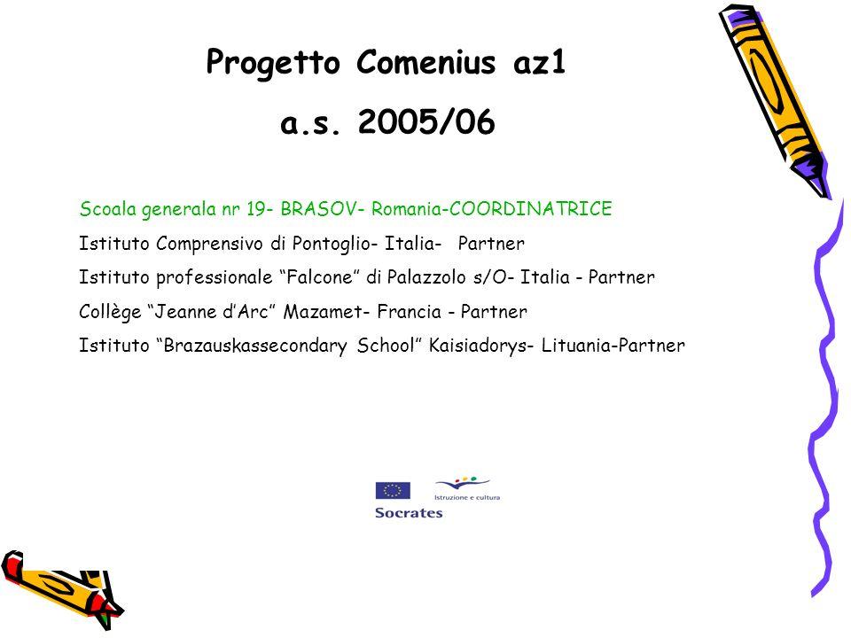 Progetto Comenius az1 a.s. 2005/06