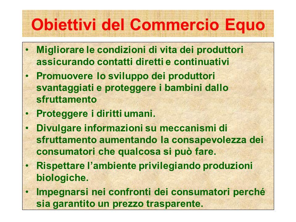 Obiettivi del Commercio Equo