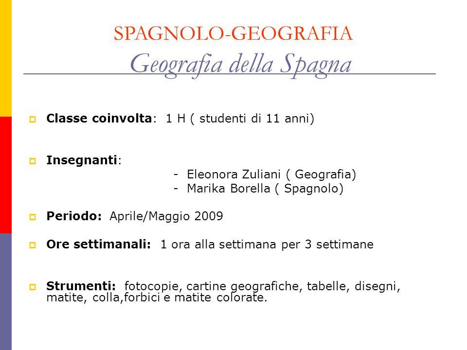 SPAGNOLO-GEOGRAFIA Geografia della Spagna
