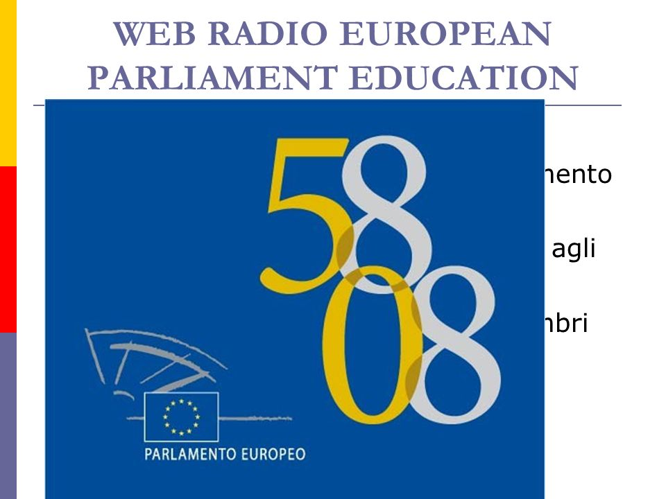 WEB RADIO EUROPEAN PARLIAMENT EDUCATION