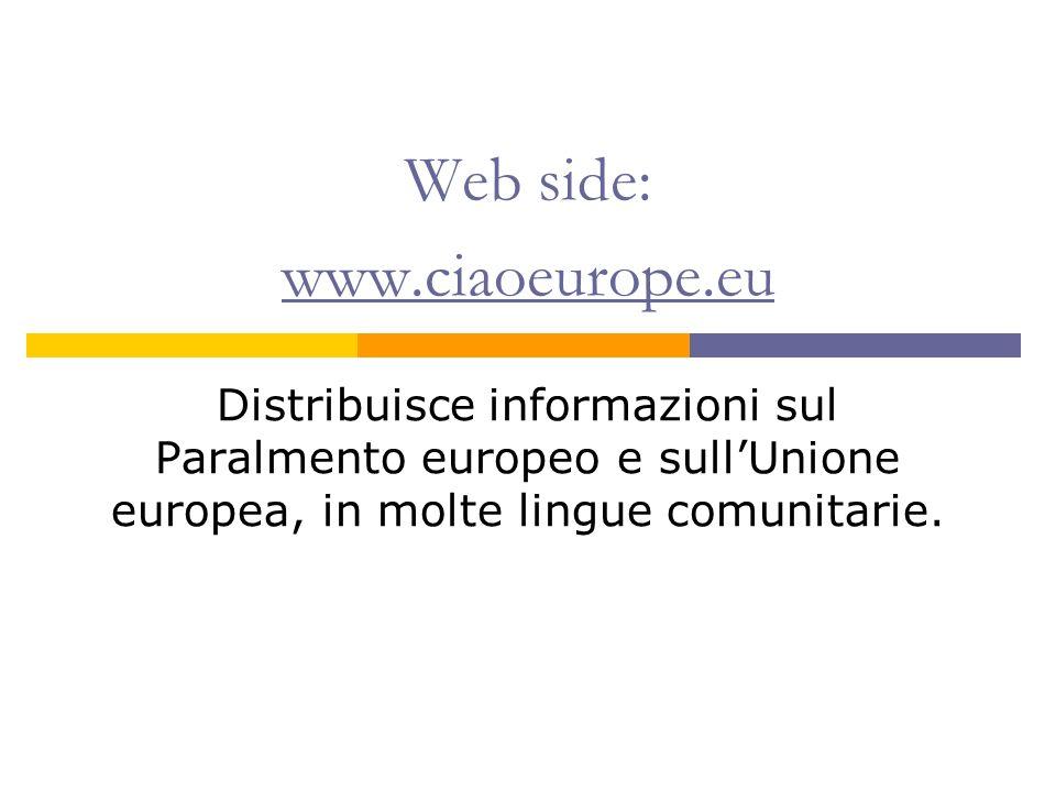 Web side: www.ciaoeurope.eu