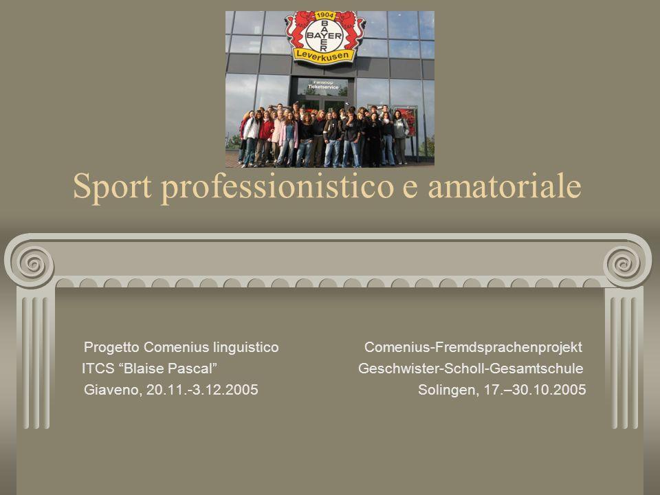 Sport professionistico e amatoriale