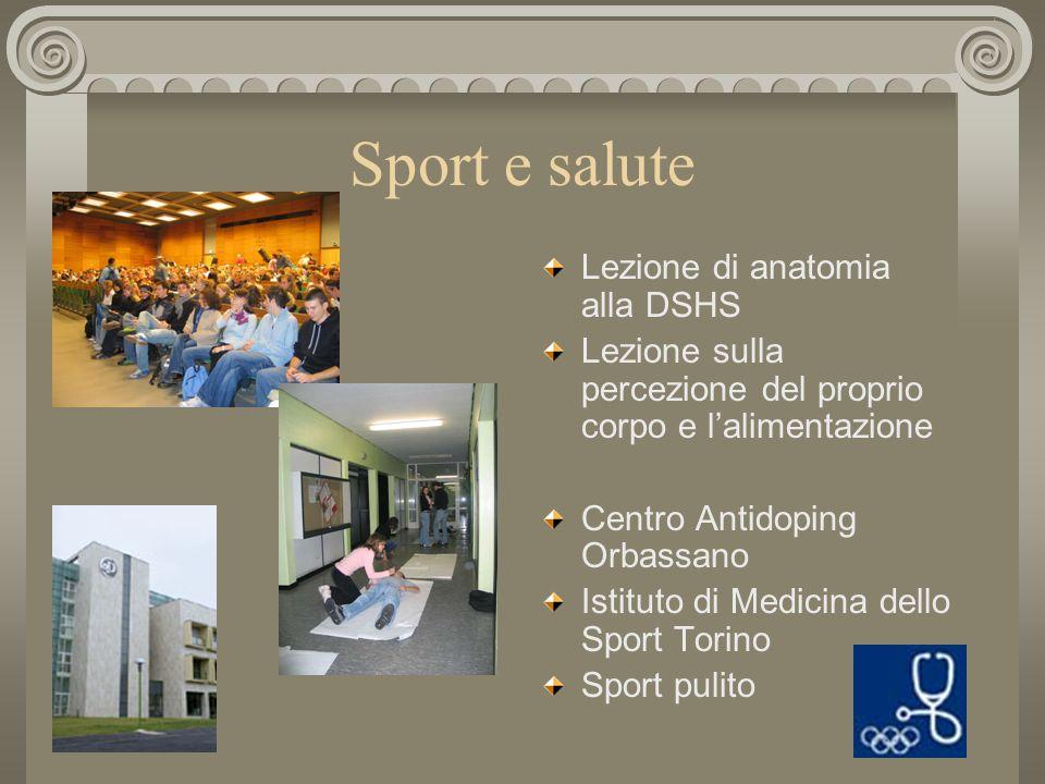 Sport e salute Lezione di anatomia alla DSHS