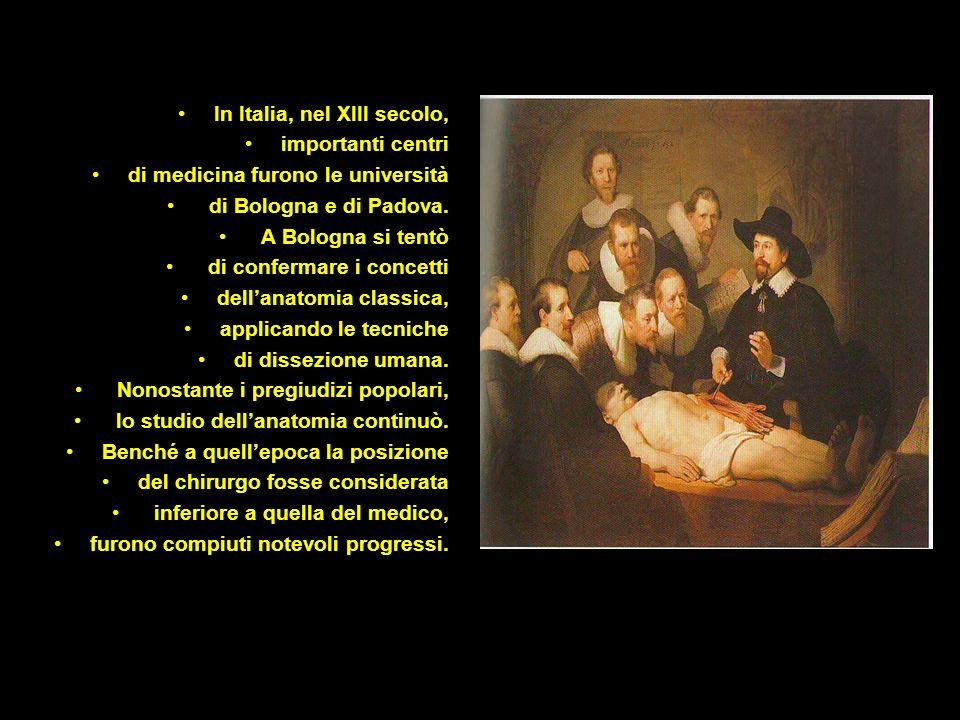 In Italia, nel XIII secolo,