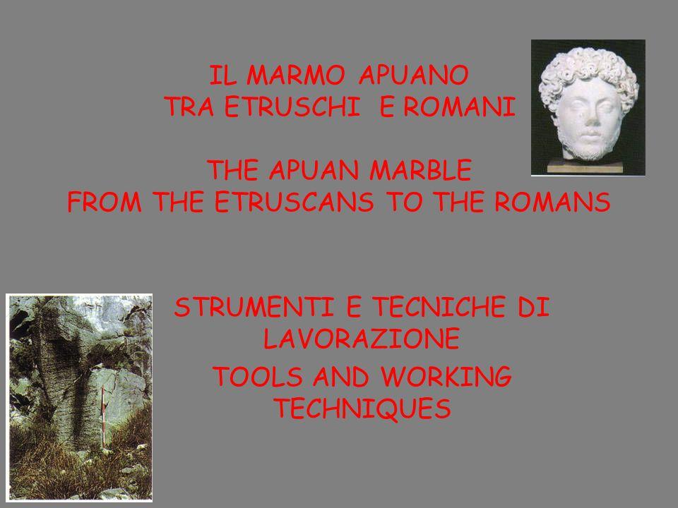 STRUMENTI E TECNICHE DI LAVORAZIONE TOOLS AND WORKING TECHNIQUES