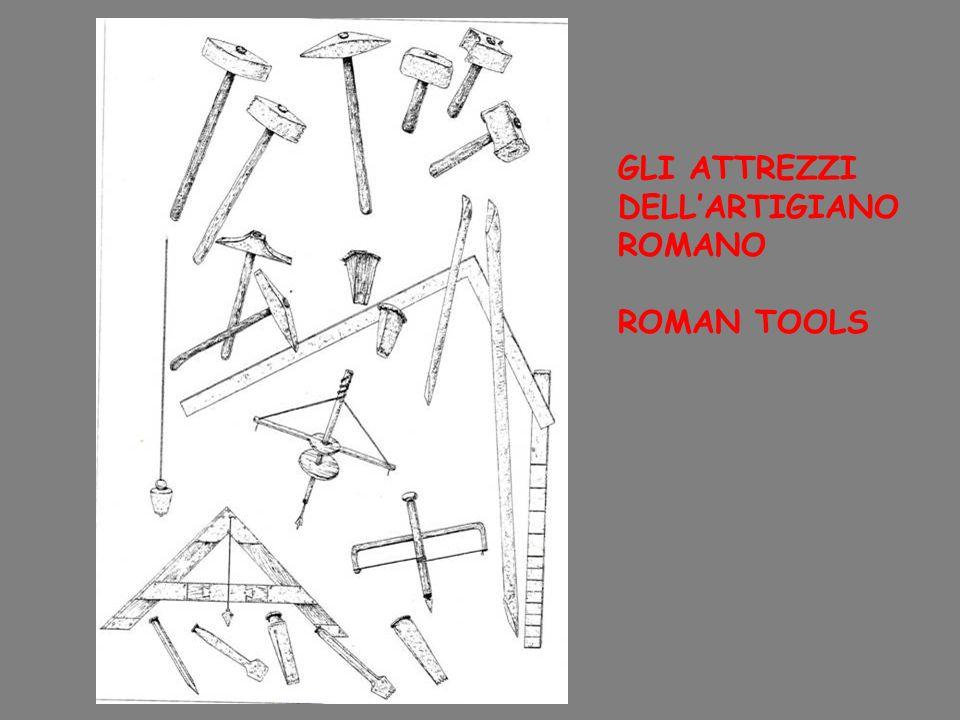 GLI ATTREZZI DELL'ARTIGIANO ROMANO