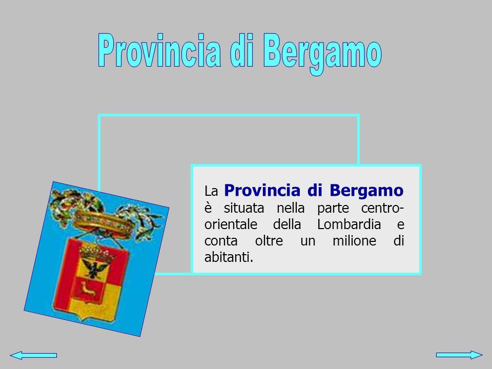Provincia di Bergamo La Provincia di Bergamo è situata nella parte centro-orientale della Lombardia e conta oltre un milione di abitanti.