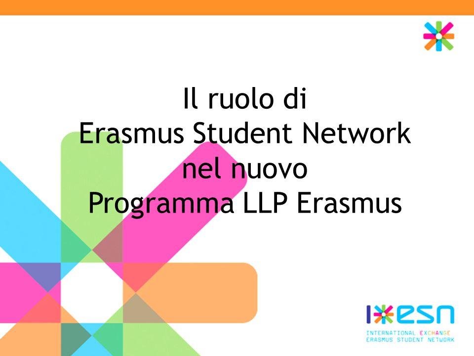 Il ruolo di Erasmus Student Network nel nuovo Programma LLP Erasmus