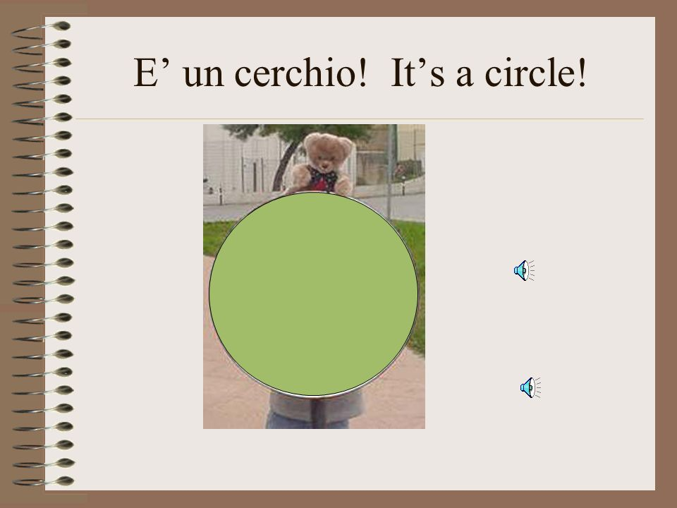 E' un cerchio! It's a circle!