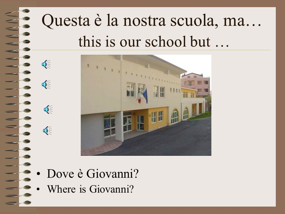 Questa è la nostra scuola, ma… this is our school but …