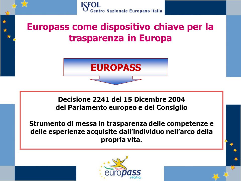 Europass come dispositivo chiave per la trasparenza in Europa EUROPASS