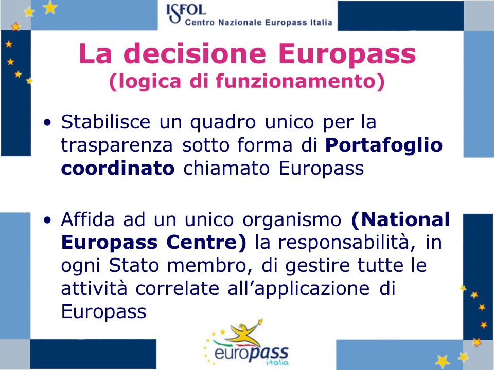 La decisione Europass (logica di funzionamento)
