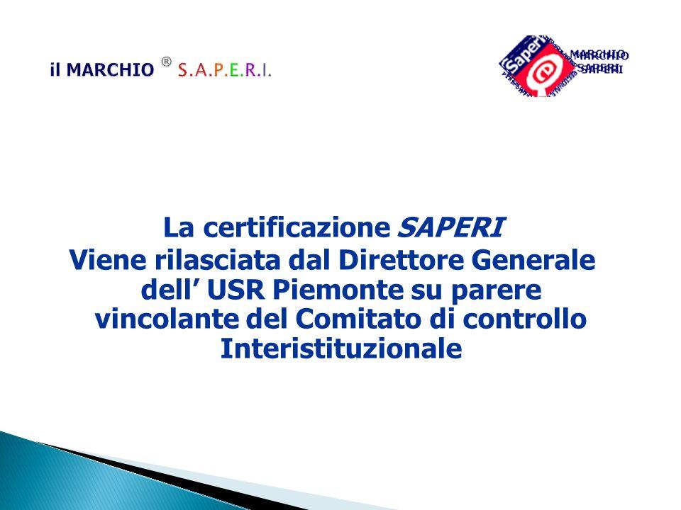 La certificazione SAPERI