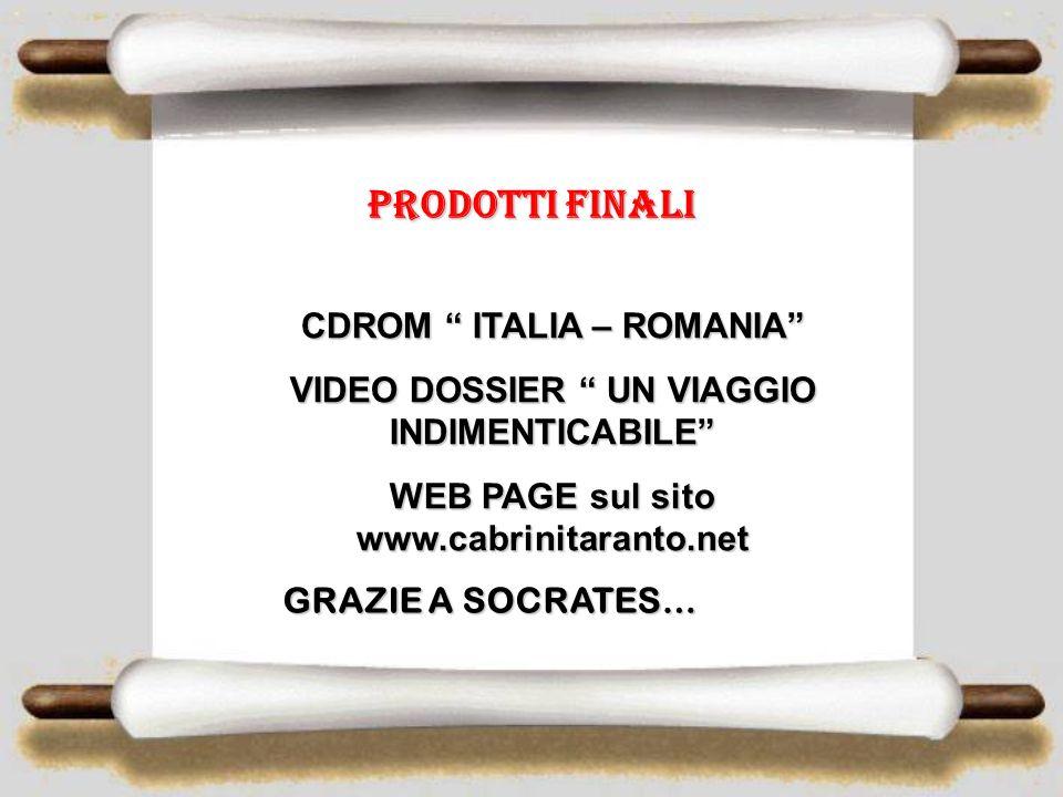 Prodotti finali CDROM ITALIA – ROMANIA