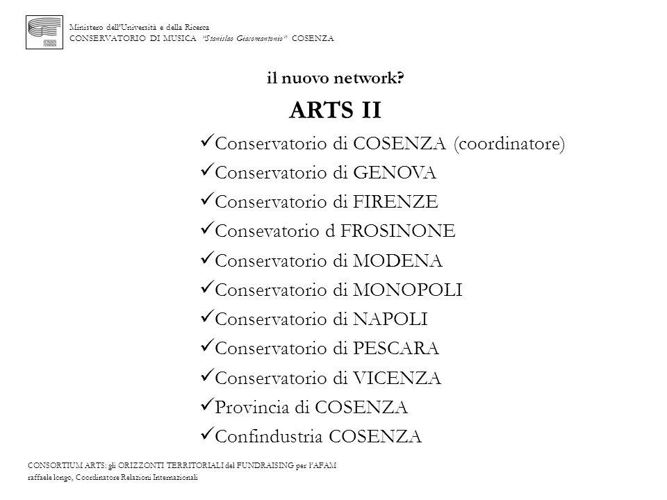 ARTS II Conservatorio di COSENZA (coordinatore)