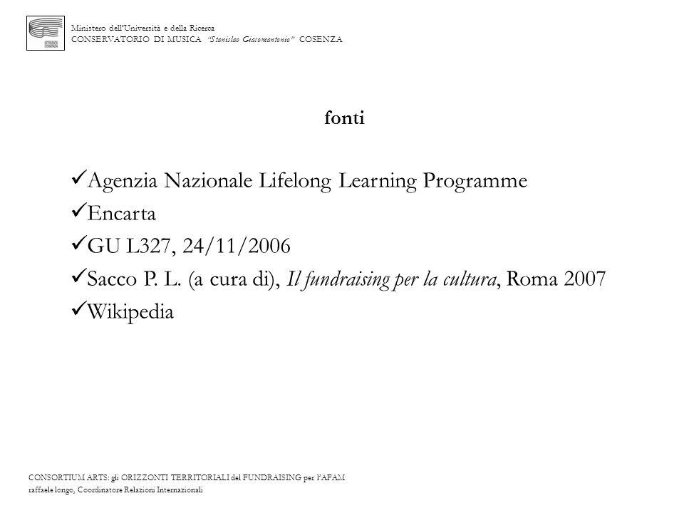 Agenzia Nazionale Lifelong Learning Programme Encarta