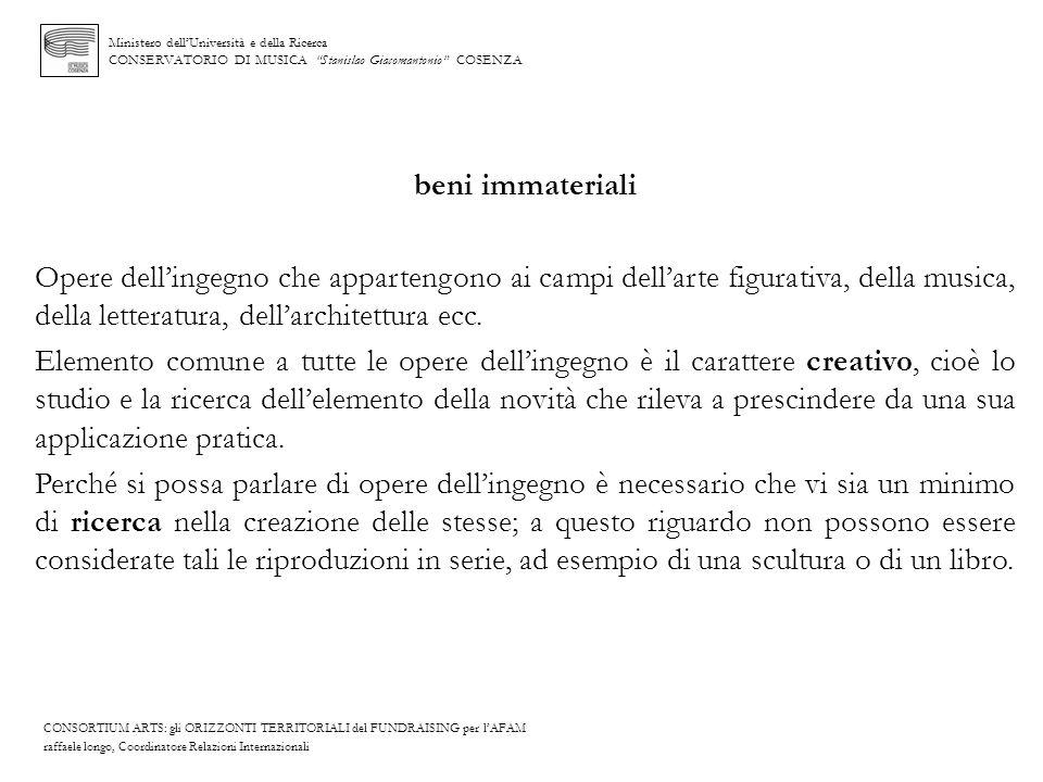 Ministero dell'Università e della Ricerca CONSERVATORIO DI MUSICA Stanislao Giacomantonio COSENZA