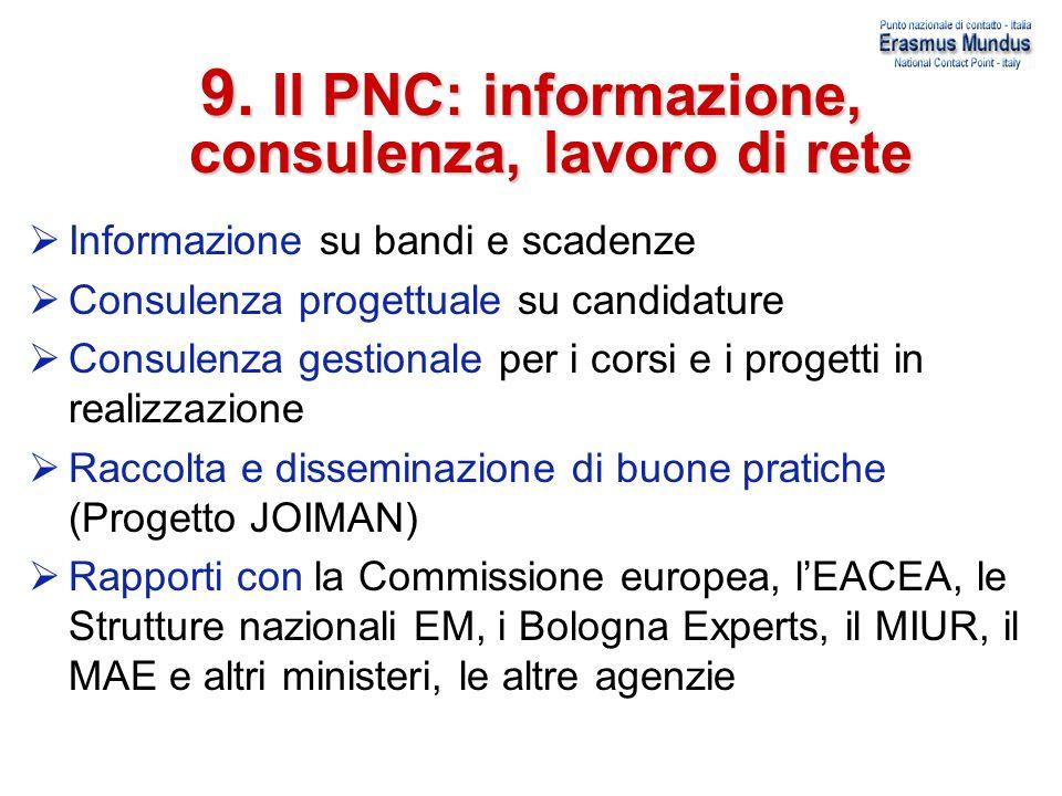 9. Il PNC: informazione, consulenza, lavoro di rete