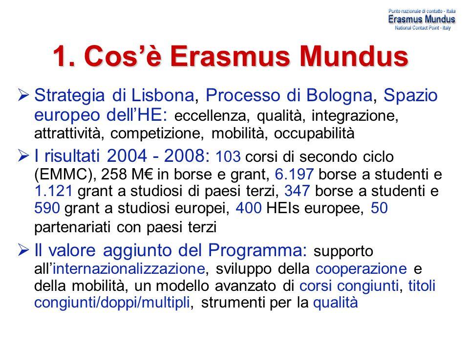 1. Cos'è Erasmus Mundus