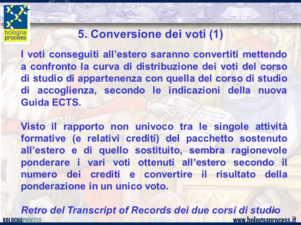 5. Conversione dei voti (1)