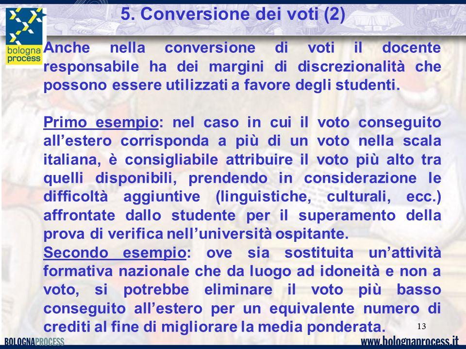 5. Conversione dei voti (2)