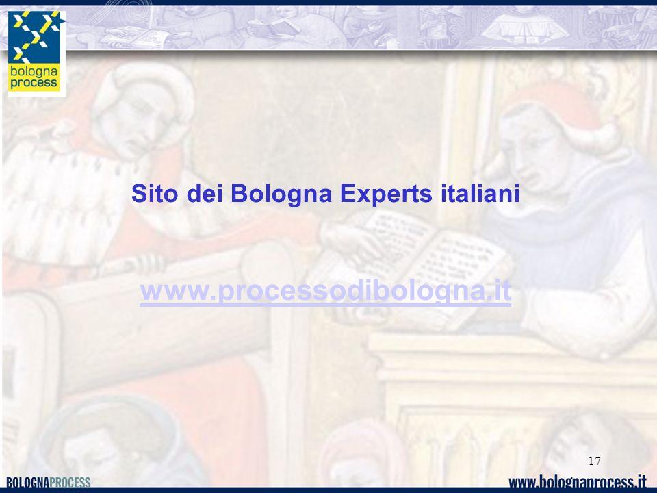 Sito dei Bologna Experts italiani