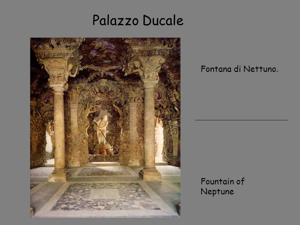 Palazzo Ducale Fontana di Nettuno. Fountain of Neptune