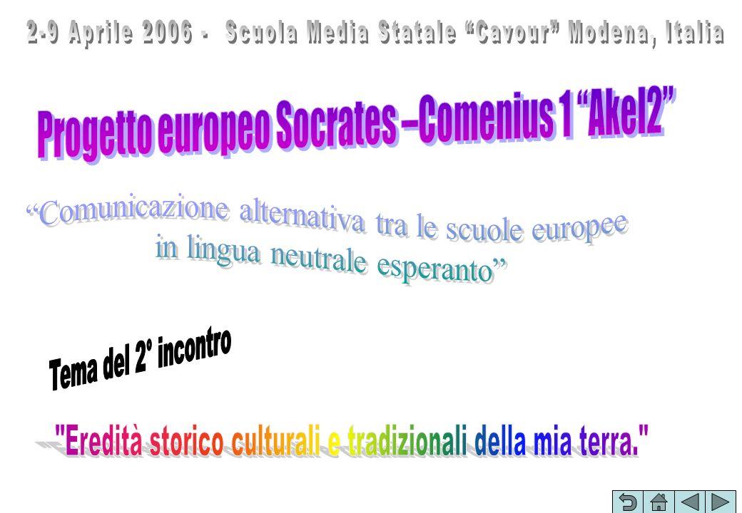 2-9 Aprile 2006 - Scuola Media Statale Cavour Modena, Italia