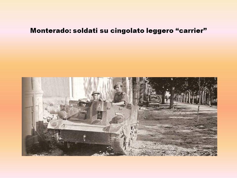 Monterado: soldati su cingolato leggero carrier