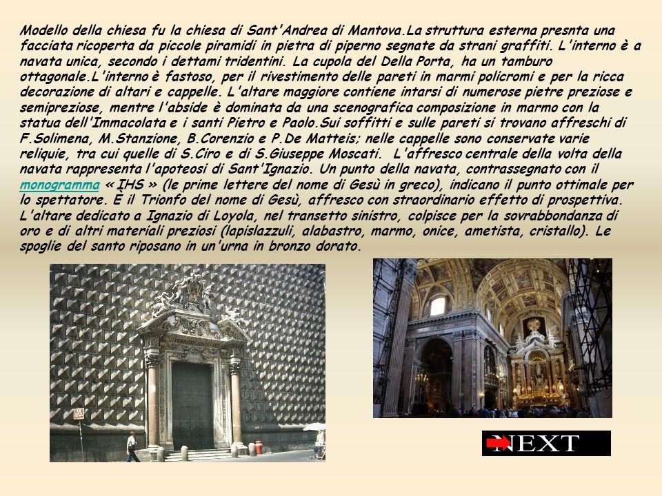 Modello della chiesa fu la chiesa di Sant Andrea di Mantova