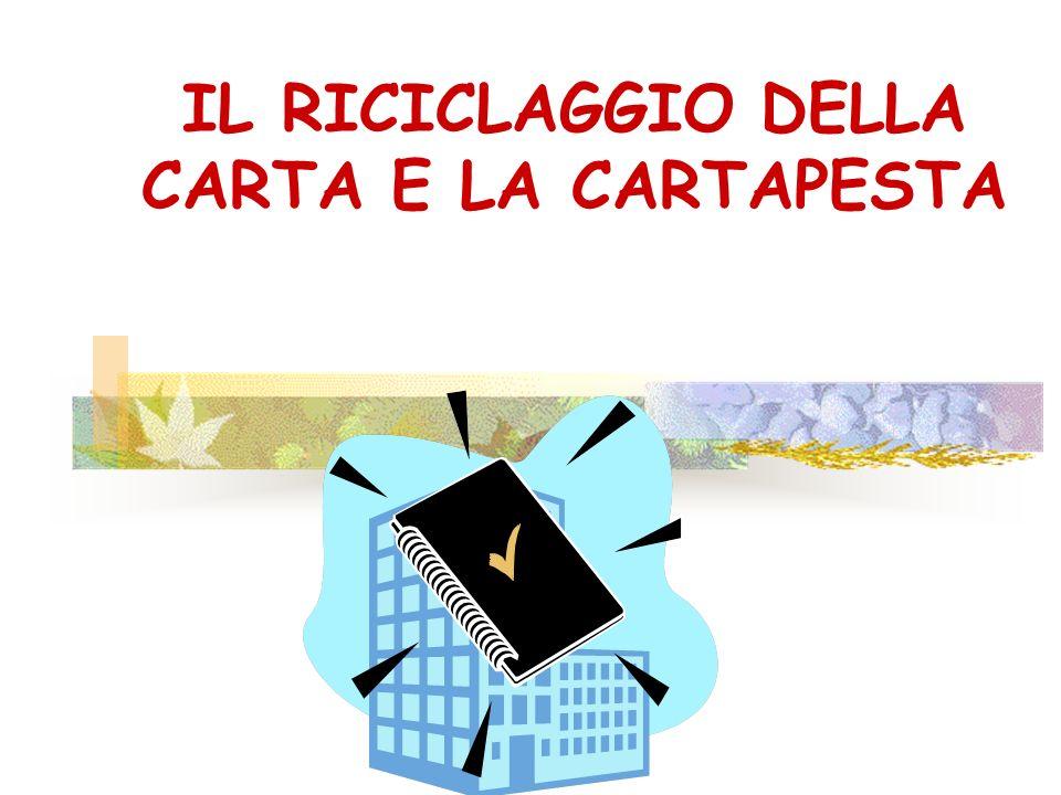 IL RICICLAGGIO DELLA CARTA E LA CARTAPESTA