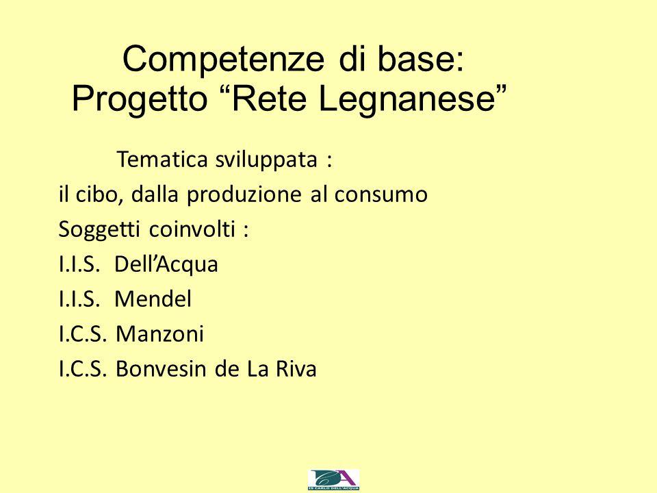 Competenze di base: Progetto Rete Legnanese