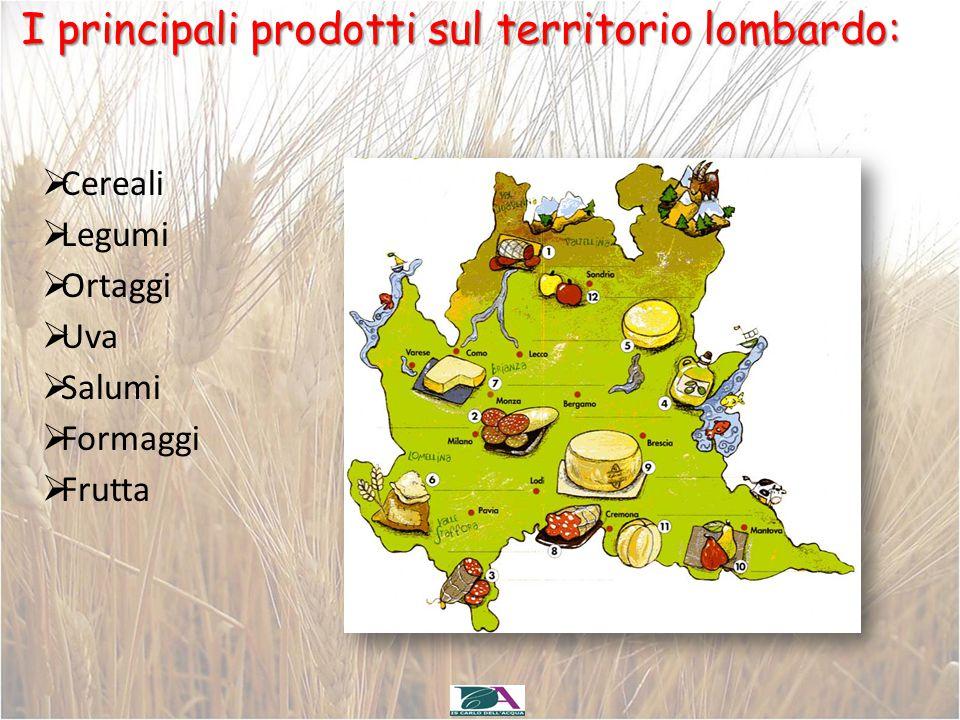 I principali prodotti sul territorio lombardo: