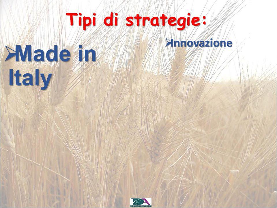 Tipi di strategie: Innovazione Made in Italy