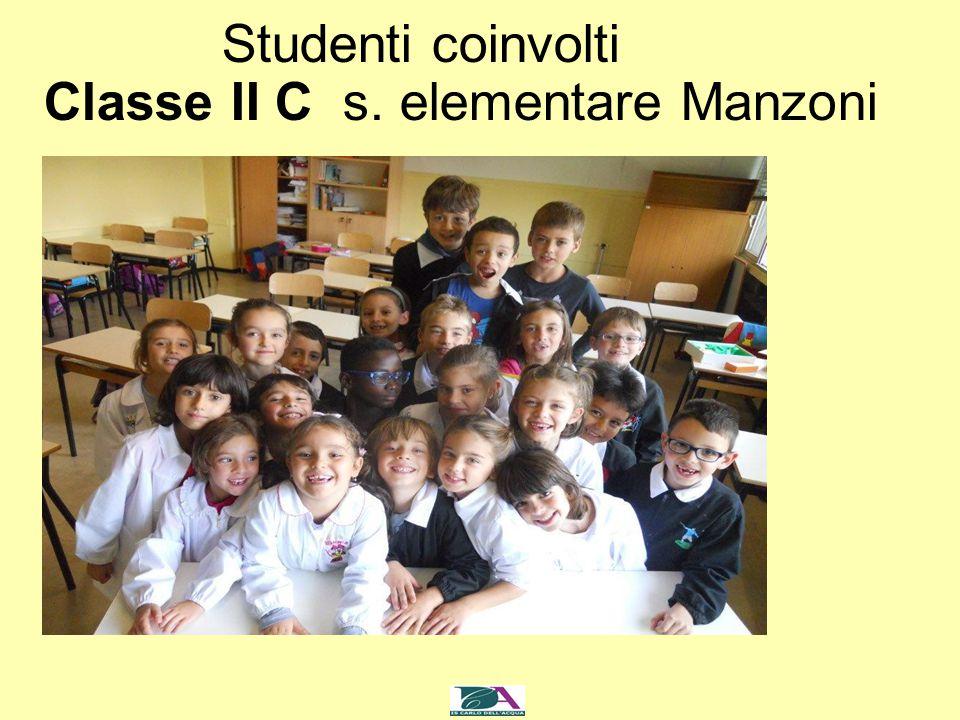 Studenti coinvolti Classe II C s. elementare Manzoni